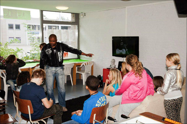 Workshop-Rap-Poetry-in-Chill-out,-Rozenburg-2012